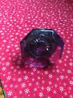 Antique Amethyst Purple Glass Door Knob With Brass Screw Base NO RESV