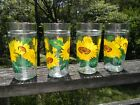 Vintage Anchor Hocking Sunflower Ice Tea Glasses 6