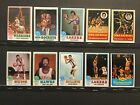 1973-74 Topps Basketball Lot of 76 Different Cards With 30 Star Cards Sku#94