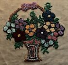 Old Vintage Beautiful Embroidery Flowers in the Basket Sham Cover 21