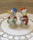 Vintage Salt  Pepper Shakers Antropomorphic ducks playing instruments1950s