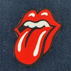 ROLLING STONES ROCK BAND TONGUE LOGO IRON ON EMBROIDERED PATCH FREE SHIPPING
