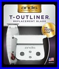 Andis T-Outliner Replacement Beard/Hair Trimmer Blade, Silver (04521)