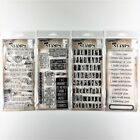 Tim Holtz Lot Of 4 Clear Stamp Sets Things Talk Saying Stuff Phrases 2 Worn Text