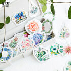 46pcs Lovely Paper Flower Stickers DIY Journal Diary Scrapbooking Stationery
