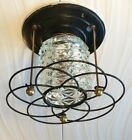 Vintage Imperialite Ceiling Light Glass Fixture Mid-Century Retro Atomic Ranch