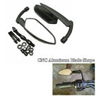 2 x CNC Black Blade Rearview Side Mirrors For Motorcycle Cruiser Chopper Dyna XL