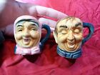 VINTAGE ELDERLY COUPLE SALT AND PEPPER SHAKERS