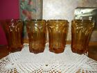 Vintage Anchor Hocking Fairfield Amber Gold Tumbler Highball Glasses tumblers