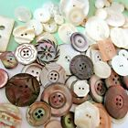 ANTIQUE Vtg MOTHER OF PEARL Button Lot ABALONE SHELL HEAVILY CARVED All sizes