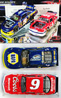 AUTOGRAPHED CHASE  BILL ELLIOTT NASCAR CHAMPIONS 2 CAR SET 1 24 ACTION DIECAST