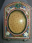 Antique Italian Micro Mosaic Miniature Picture Photo Frame Italy Floral