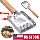 Stainless Steel Bee Hive Uncapping Honey Fork Scraper Shovel Beekeeping Tool US