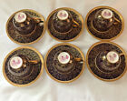 Royal Worcester Antiques Set Of Six Demitasse Espresso Coffee Cups.