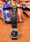 Omega Seamaster Black Dial, Ref. 2916, Cal 471 20 Jewel Automatic Wristwatch