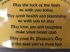 Cling mounted rubber stamp LUCK OF THE IRISH St Patricks Day USA made