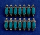 NATIVE AMERICAN DESIGN STERLING Faux TURQUOISE MANUFACTUVintage 2 PINS Estate
