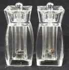 RARE MR DUDLEY Salt Shaker  Pepper Clear Lucite Acrylic Vintage Retro