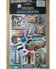 HANDMADE EMBELLISHED 3D WORLD TRAVEL SCRAPBOOKING STICKERS 9 Count