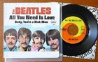The Beatles All You Need Is Love Original Capitol Picture Sleeve + 45 RPM record