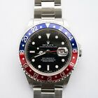 Vintage Rolex GMT Master II Pepsi Bezel 40mm 16710 T No Holes Just Serviced