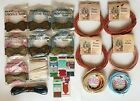 Lot of 14 Twisted Ribbon Mixed Paper 2 Satin Various Colors Plus Extra Items