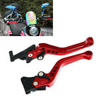 Red CNC Motorcycle Drum Disc Hydraulic Line GY6 Brake Clutch Lever Grip Bid