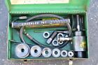 Greenlee 7306 Ram  Hand Pump Hydraulic Driver Kit with 6 Conduit Sized Punches