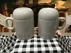 FIESTA RANGE TOP SALT AND PEPPER SHAKERS - RETIRED PEARL GRAY - New Old Stock