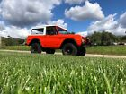 1974 Ford Bronco 4x4 Convertible Epic Orange White Early Bronco Ford Bronco 1974 302 V8 3 Speed 3 Lift on 35s w Winch