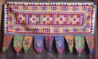 Embroidered cotton bandarwal toran door colorful pretty floral hanging valance