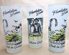 1940s Libbey Glass Iced Tea Glasses Plantation Scene Frosted Flat 3 Vintage Cups