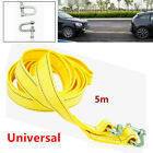 1Set 5 Tons 5M Car Van Tow Rope Hook Heavy Duty Road Recovery Pull Towing Strap