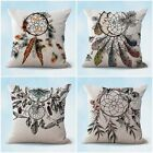 set of 4 home decor items for native tribe dreamcatcher cushion covers