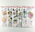 Stampendous Lot Of 5 Frans Clear Stamps  Cutting Dies Jar Mermaid Cat Dog
