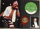 Axl Rose Guns N Roses Framed Signed Autographed 6x8 Photo + VIP pass Patch COA