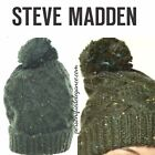 NEW Steve Madden Speckled Cable Beanie Military Green $32