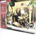Nativity Set w Creche Deluxe 14 Piece Christmas Hand Painted Fabric Living Home