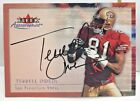 Terrell Owens 2000 Fleer Autographics on-card Autograph Auto SP - SF 49ers - HOF