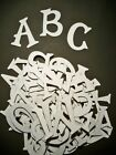 PURE WHITE Chipboard Letters Plus Extra