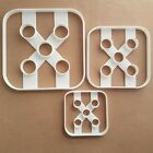 Die Dice Five Game Gamble Shape Cookie Cutter Dough Biscuit Pastry Fondant Stamp