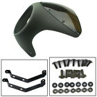 7'' Round Retro Motorcycle Cafe Racer Headlight Fairing Screen Windshield Cover