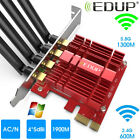 AC 1900Mbps PCI E WiFi Wireless Card Adapter Antennas for Desktop Laptop PC