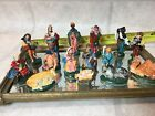 Vtg lot of 16 Nativity Miniature Painted Plastic Figurine Statue HongKong 2 1 2