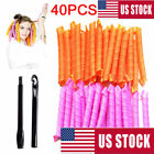 50cm Magic Curlers Long Hair Curlers 18~40pc Spiral Hair Formers Leverage Roller