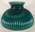 New 10 Opal Glass Ribbed Student Lamp Shade With Dark Green Painted Background