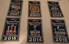 New England Patriots 6x Super Bowl Champions Banners Patch Set of 6 25 x 4