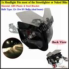 ABS Plastic Streetfighter Naked Bike Headlight Head Lamp Fairing Universal Fits