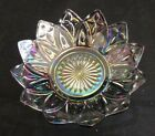 Vintage Federal-Petal Glass Smoke Iridescent Bowl Candy Nut Glass Dish 5-3/4