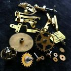 X35b Lot of Vintage Clock GEARS & Parts for Replacements Repairs Steampunk Brass